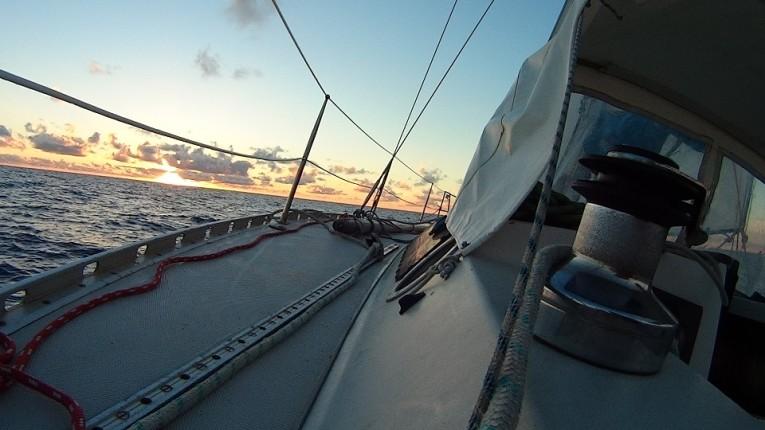 Calme plat sur l'océan