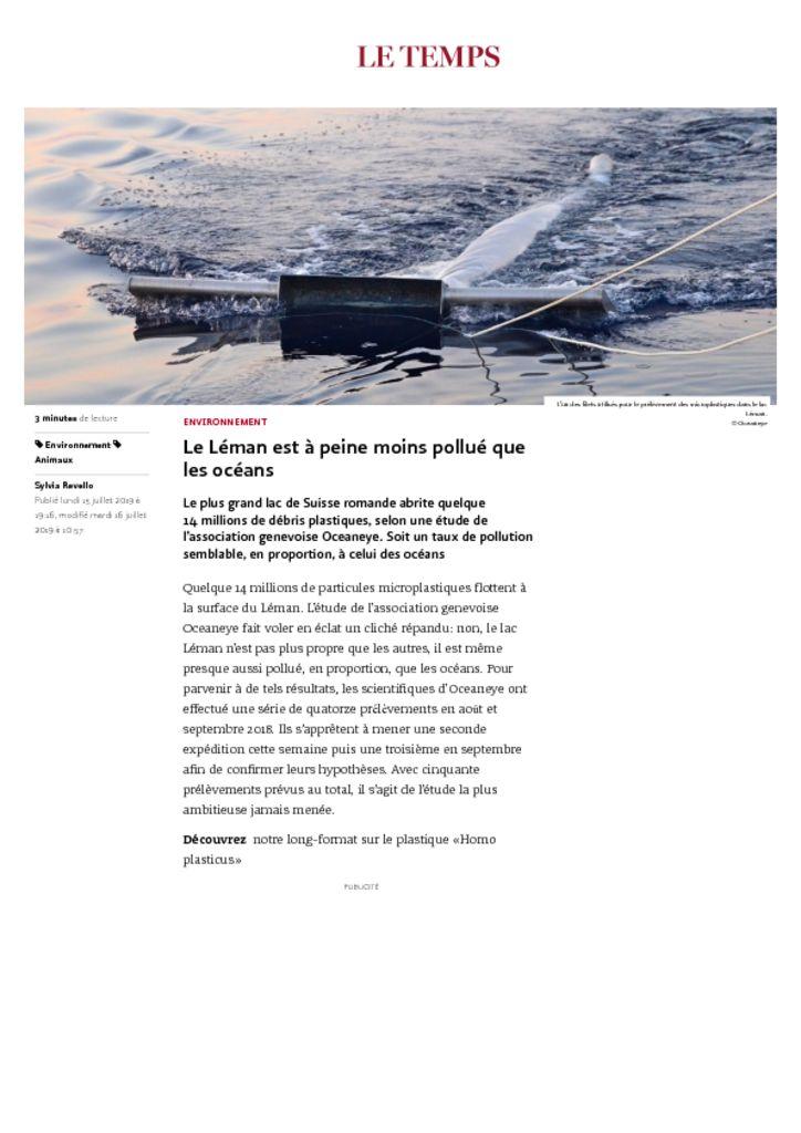 thumbnail of Le Temps 160719