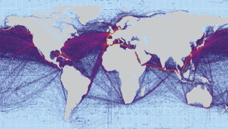 Carte des routes commerciales