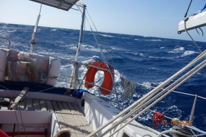 Coup de vent en mer Méditerranée